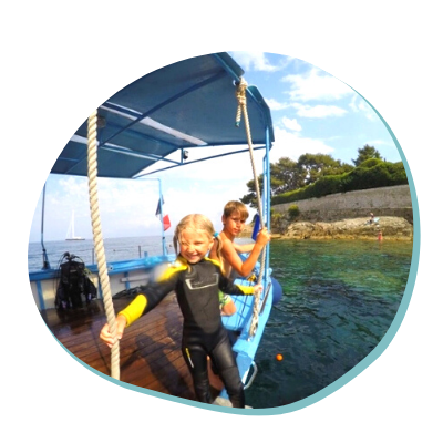 Centre de plongée 06230 activite aquatique enfant 06