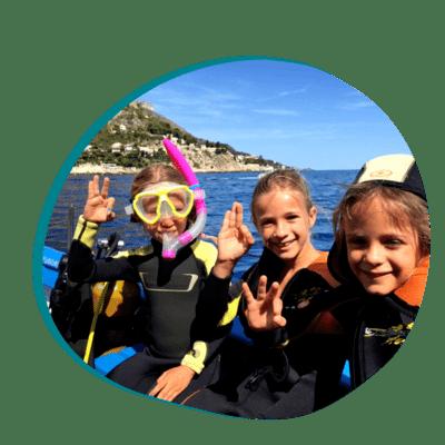 Centre de plongée 06230 plongee pour enfants