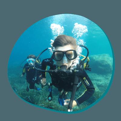 Centre de plongée 06230 stage plongee sous marine enfant