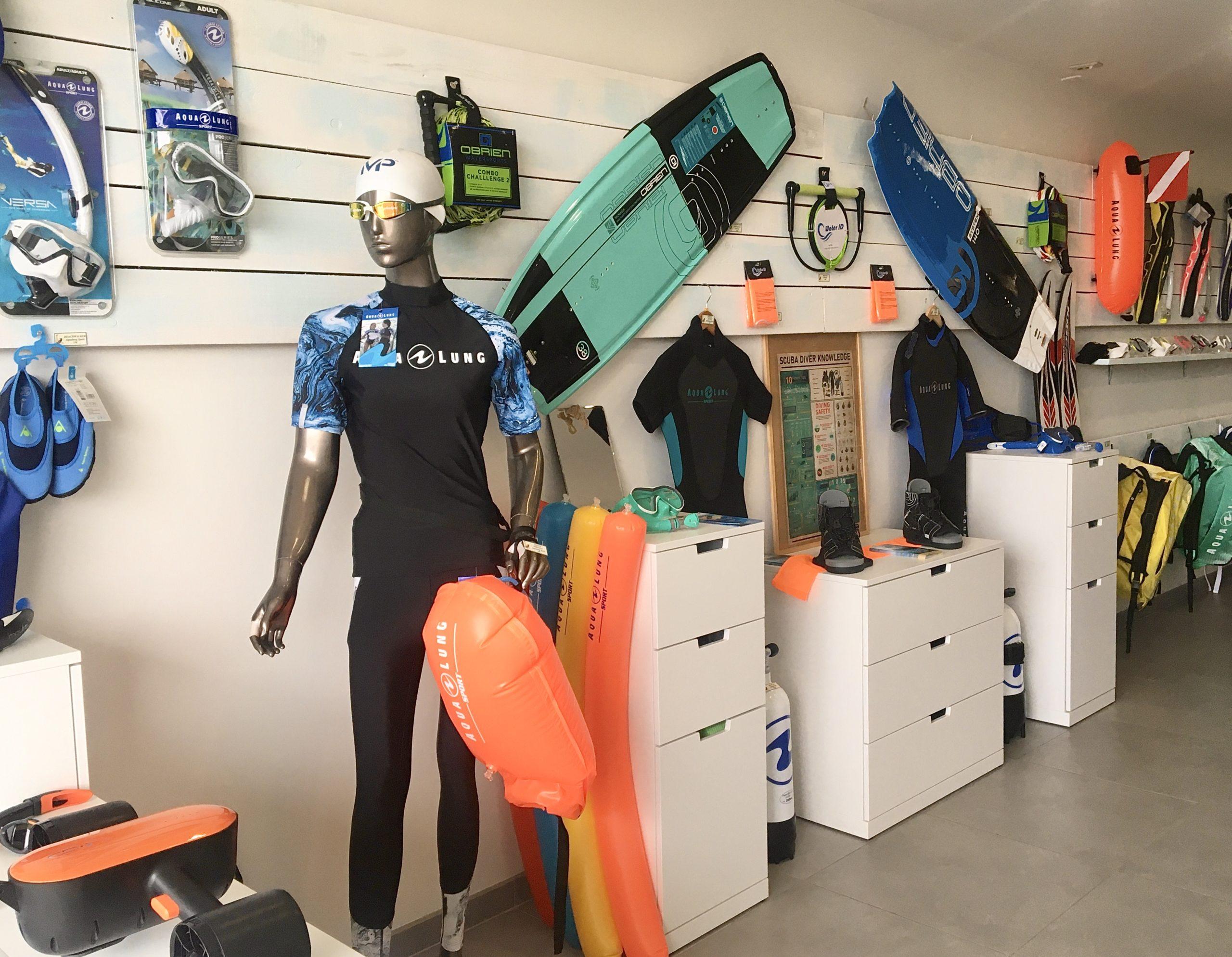 magasin d'équipements aquatiques entre Nice et Monaco